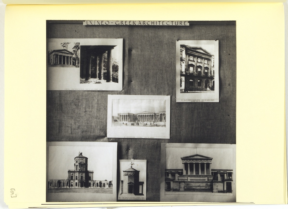 """English Art and the Mediterranean, panel 60: """"Neo-Greek Architecture"""". © The Warburg Institute, London."""